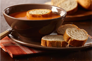Bread and soup